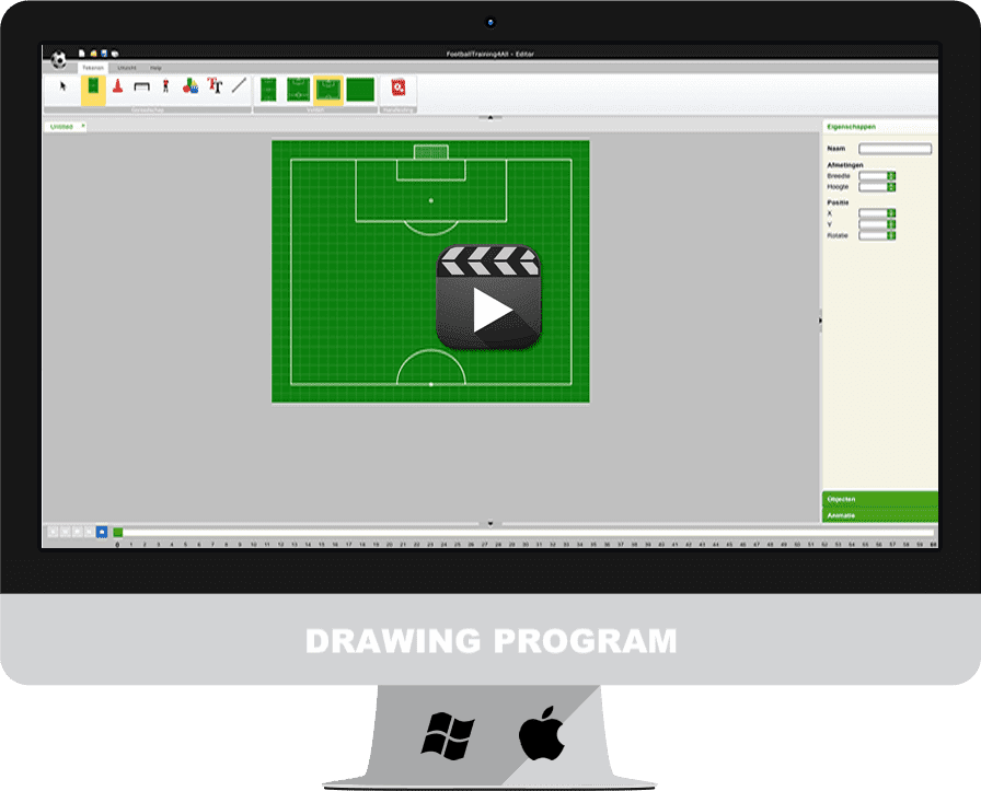 Soccer drawing program for making football drills